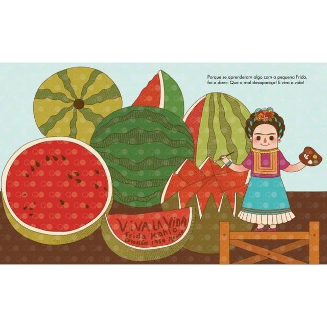 Gente pequena, grandes sonhos Frida Kahlo