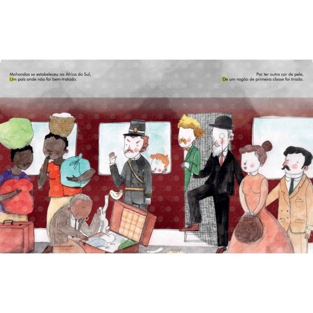 Gente pequena, grandes sonhos Mahatma Gandhi Livro Educativo