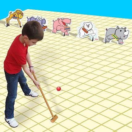 Golf Animal Brinquedo Educativo de Madeira