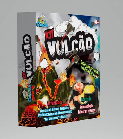 Hora da Ciência kit médio Vulcão Brinquedo Científico