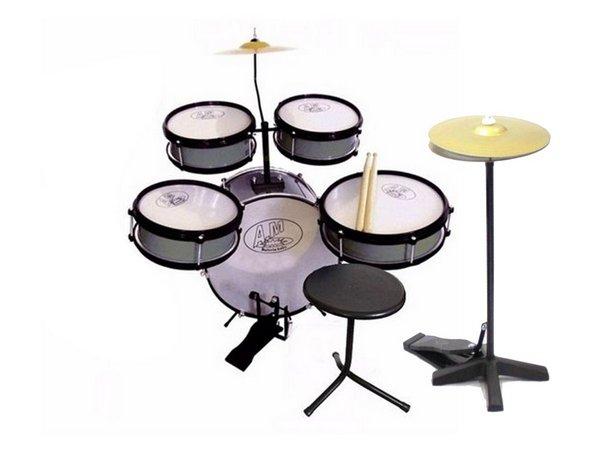 Instrumento Musical Bateria Infantil AM2 Prata com Chimbal