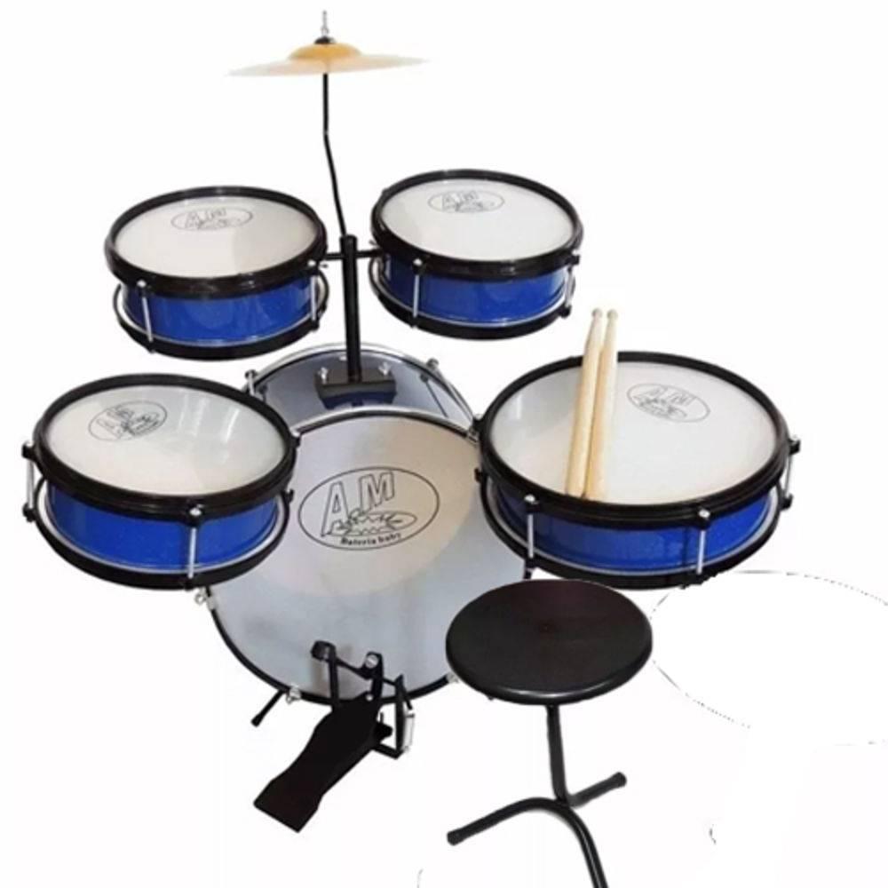 Instrumento Musical Bateria Infantil Baby AM2 Azul