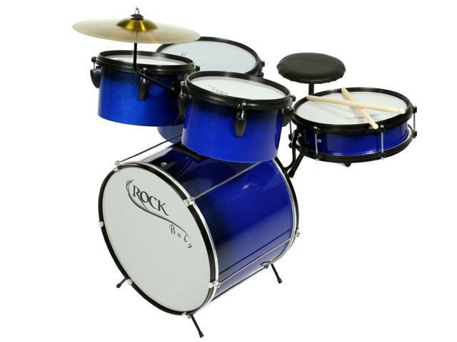 Instrumento Musical Bateria Infantil Modelo M2 Azul