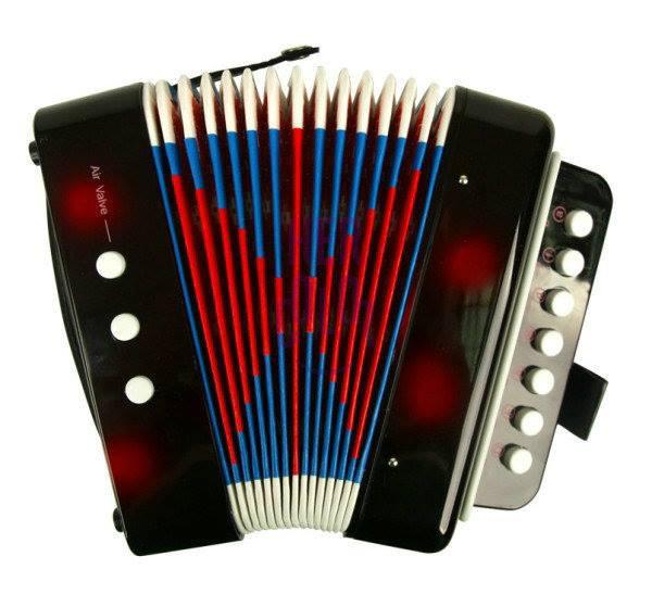 Instrumento Musical Infantil Acordeon Cor Preto Custom