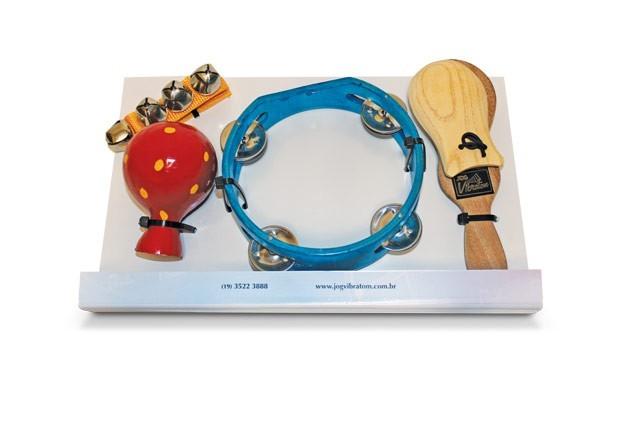 Instrumento Musical Infantil Bandinha Ritmica 4 peças