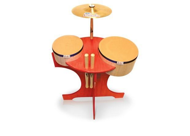 Instrumento Musical Infantil Bateria Baby Madeira