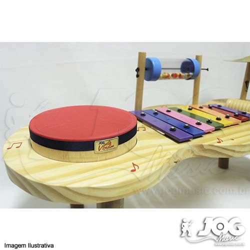 Instrumento Musical Infantil de Madeira  Pequena Percussão Baby