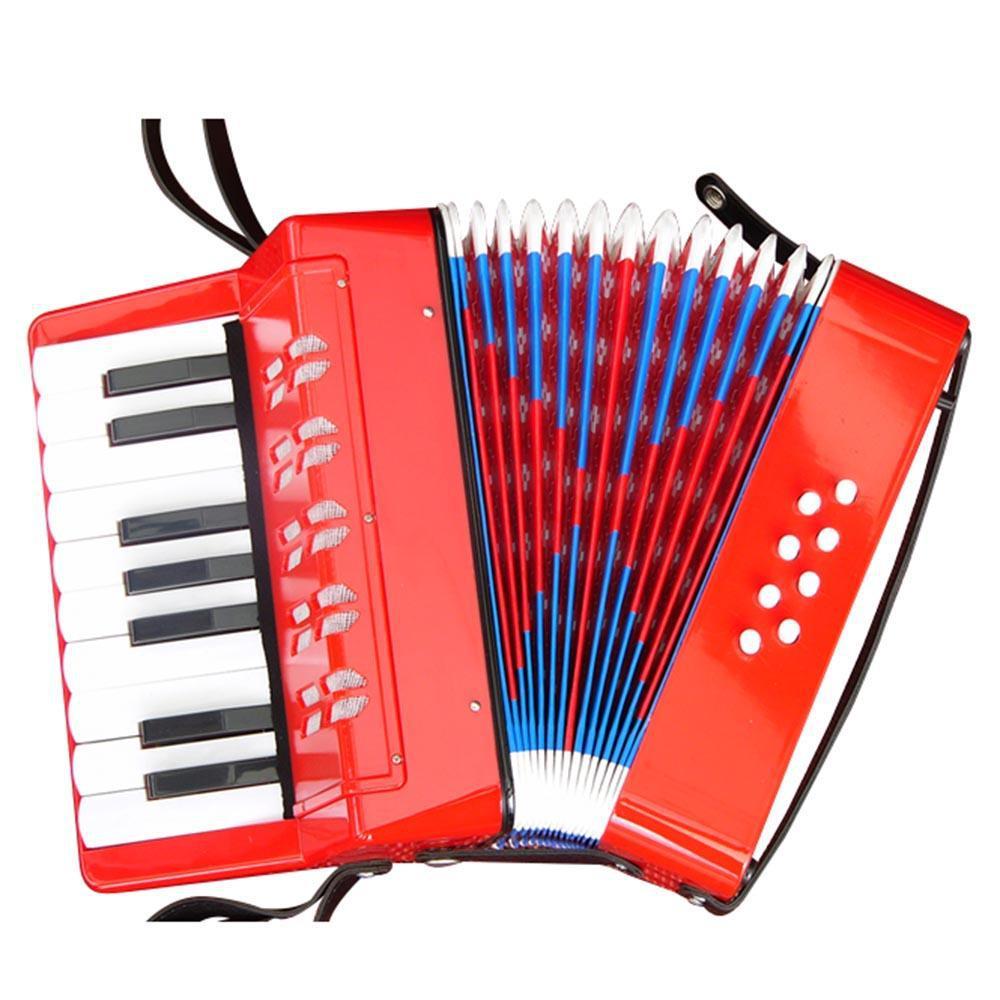 Instrumento Musical Infantil Mini Acordeon 17 Claves 8 Baixos