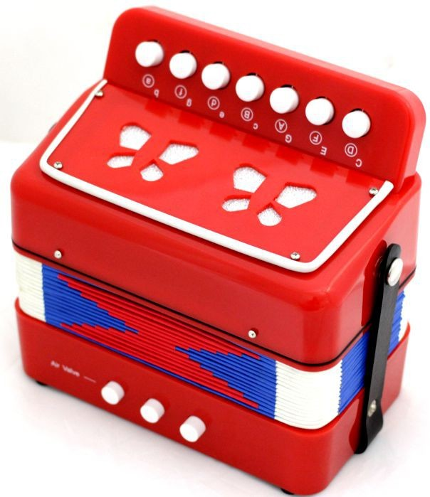 Instrumento Musical Infantil Mini Acordeon 7 claves 3 baixos