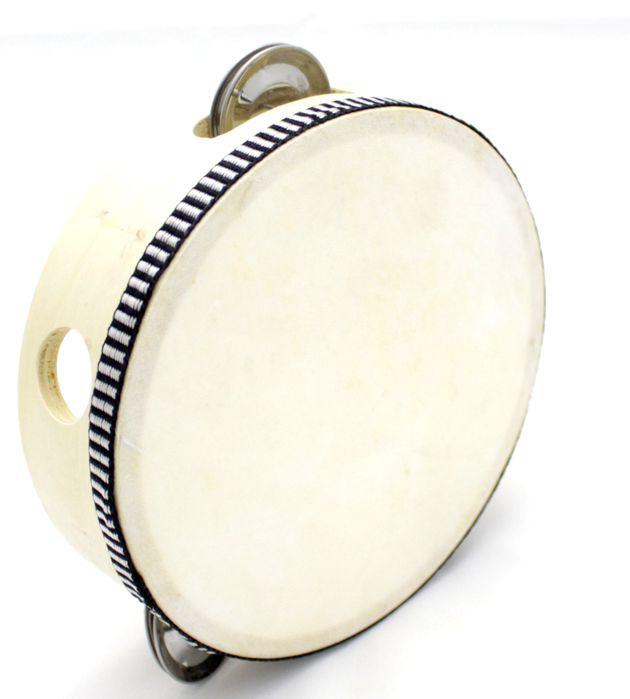 Instrumento Musical Infantil Pandeiro de Madeira 6 Polegadas