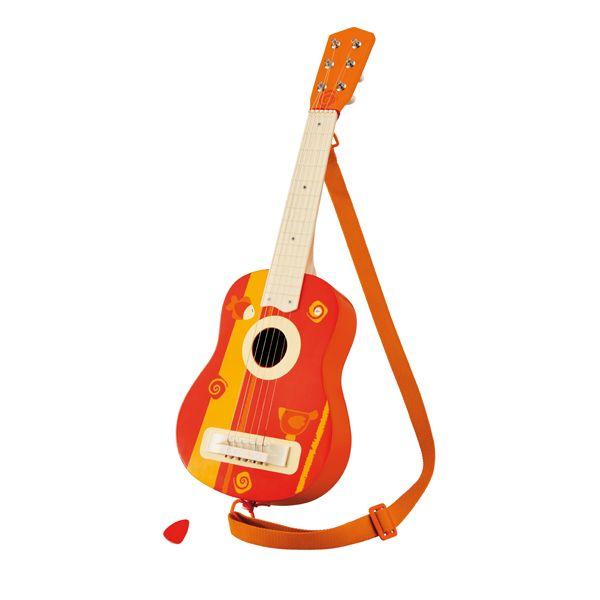 Instrumento Musical Infantil Violão Infantil de Madeira com Cinto