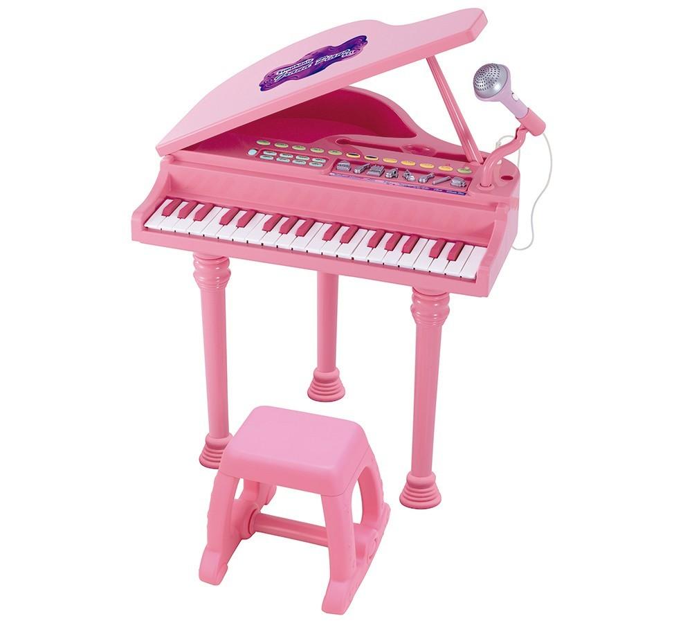 Instrumento Musical Piano Infantil Sinfonia Rosa