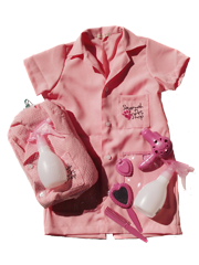 Jaleco Pet Shop Rosa