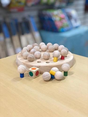 Jogo da Memória de 6 cores Brinquedo de Madeira