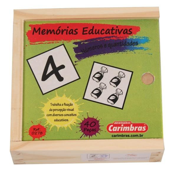 Jogo da Memória em Madeira Números e Quantidades