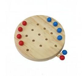 Jogo da Velha para Brincar no Carro de madeira