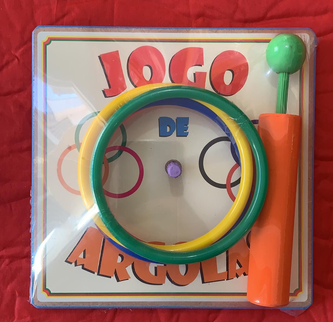 Jogo de Argolas Brinquedo Educativo de Madeira