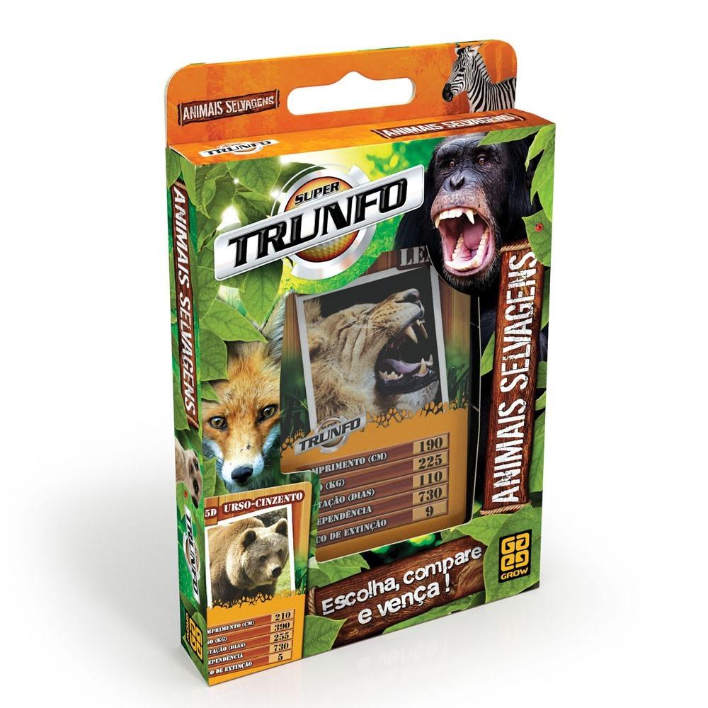 Jogo de Cartas Super Trunfo Animais Selvagens Grow