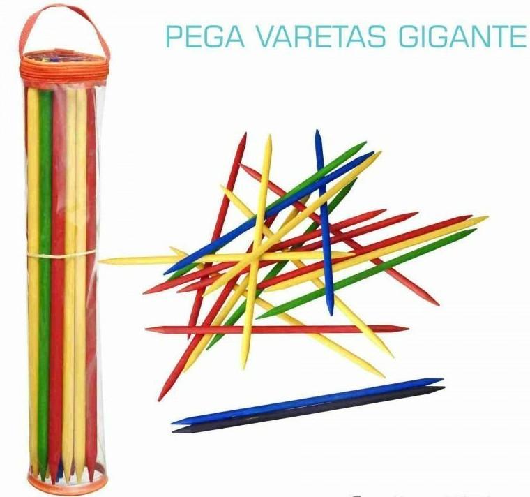 Jogo de Madeira Tradicional Pega Varetas Gigantes