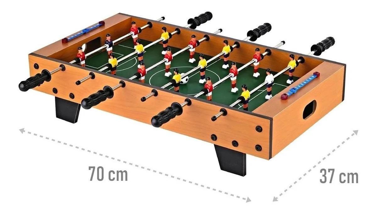 Jogo de Pebolim Futebol de Mesa Brinquedo de Madeira