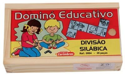 Dominó Divisão Silábica Jogo Educativo de Madeira
