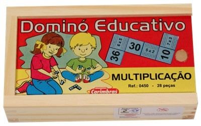 Dominó Multiplicação Jogo Educativo de Madeira