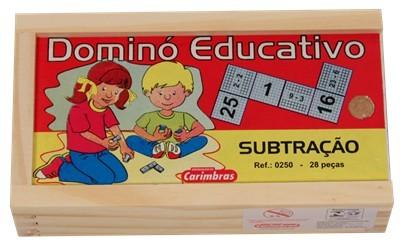 Jogo Educativo de Madeira Domino Subtração