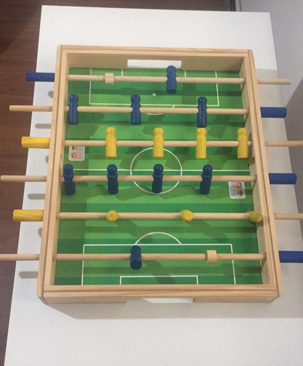 Futebol de Mesa  Pebolim Jogo Educativo de Madeira