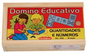 Jogo Educativo Dominó de Madeira Quantidade e Número