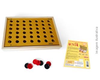 Jogo Uni 4 Brinquedo de Madeira