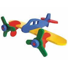 Kit Arte Aviões de Madeira para Pintar e Montar