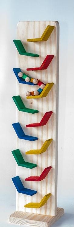 Kit Carrinhos Brinquedo Educativo de Madeira Zig Zag