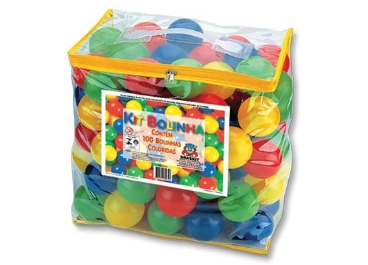 Kit com 100 Bolinhas Coloridas Braskit