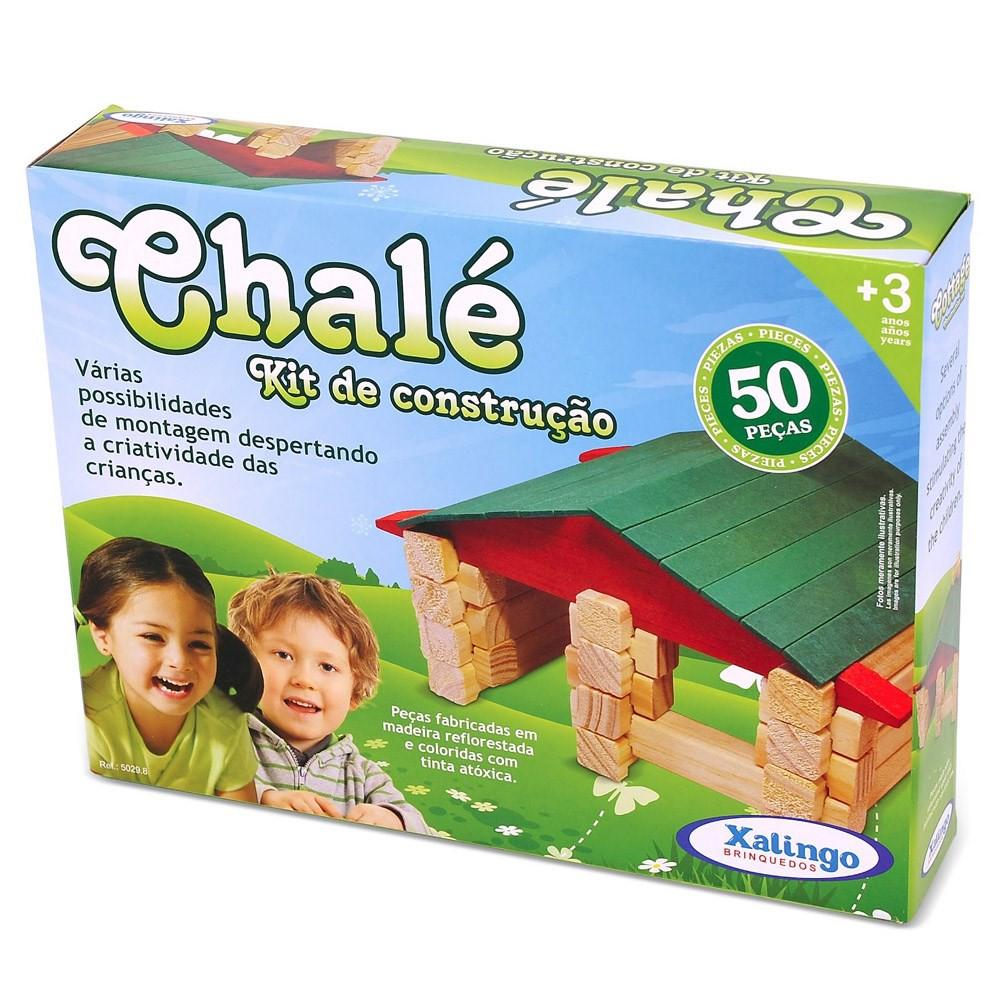 Kit Construção Chalé 50 peças Xalingo