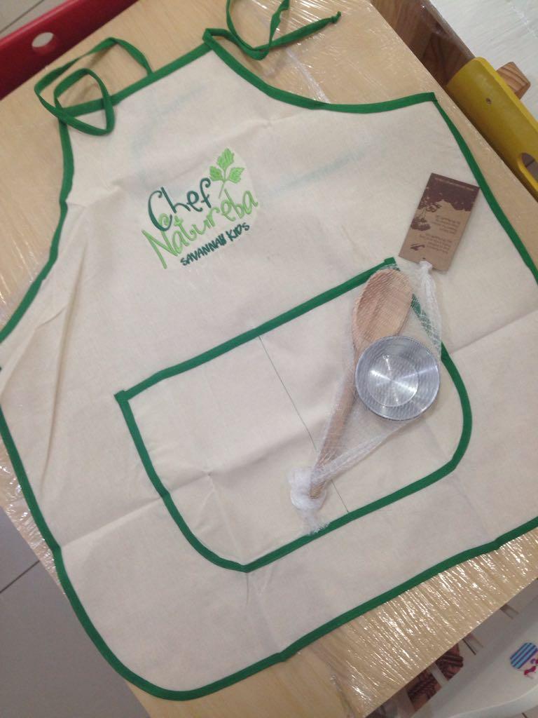 Kit Cozinha Avental Chef Natureba
