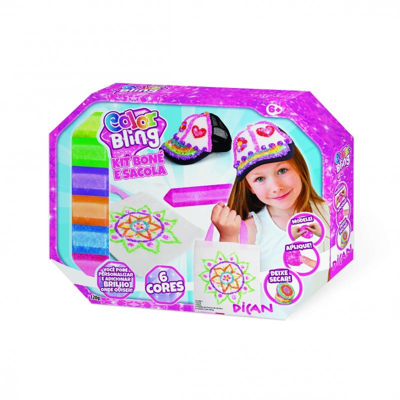 Kit de Artesanato Color Blings Kit Boné e Sacola Dican