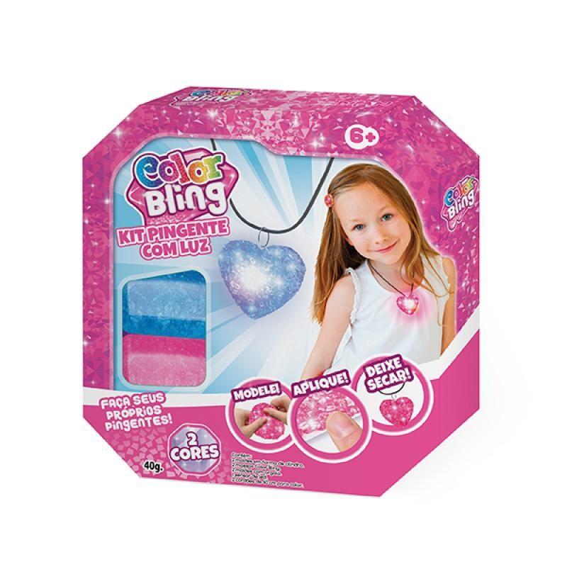 Kit de Artesanato Color Blings Kit Pingente com Luz