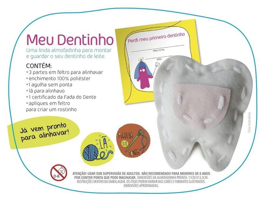 Kit  de Artesanato Meu Dentinho Faça você mesmo