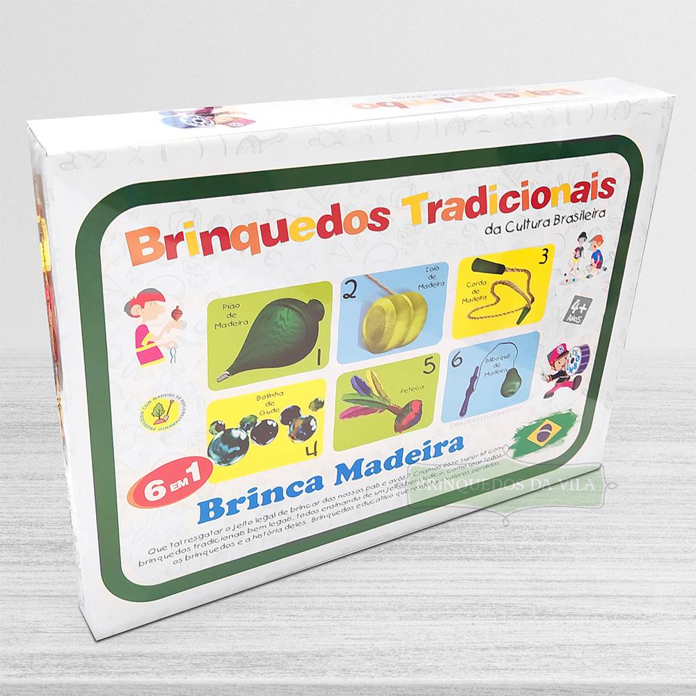 Kit de Brincadeiras Tradicionais Brinquedo de Madeira