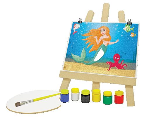 Kit de Pintura A pequena Sereia