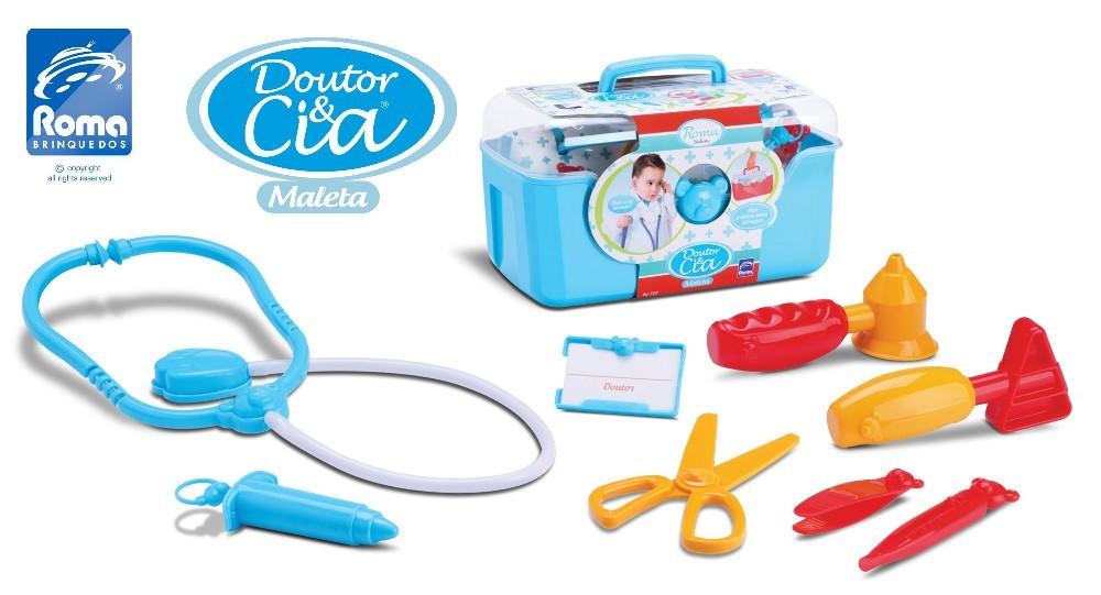 Kit Medico Doutor & Cia Maleta Boys Roma Jensen