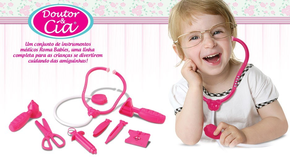 Kit Medico Doutor & Cia Maleta Girls Roma Jensen
