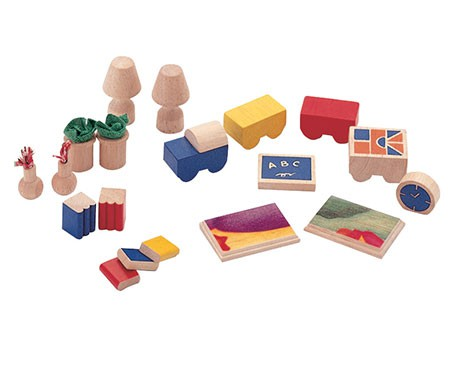 Kit Mini Móveis de Madeira para casinah de boneca Accessories for Living