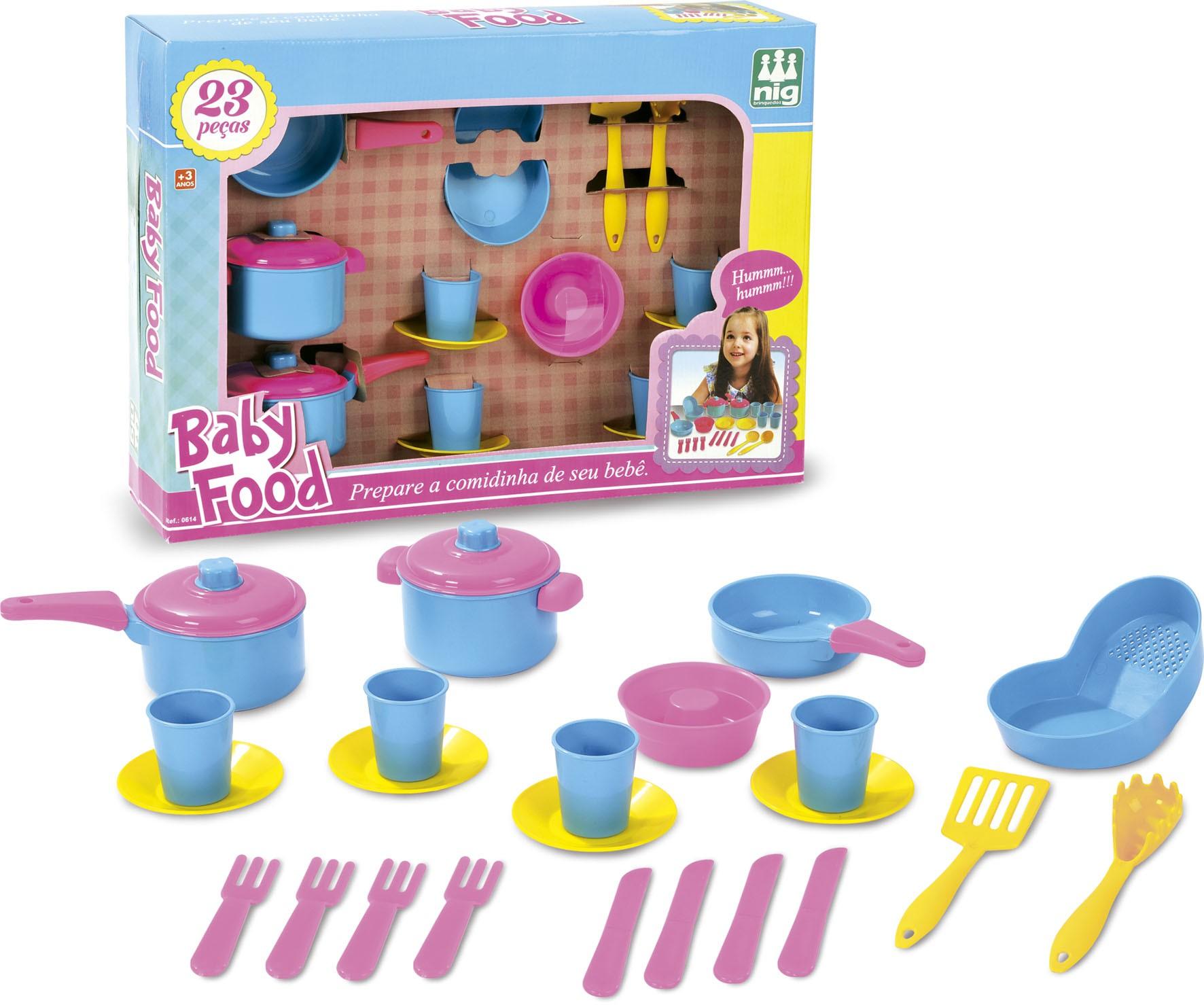 Kit Panelinhas para Brincadeira de Casinha Baby Food