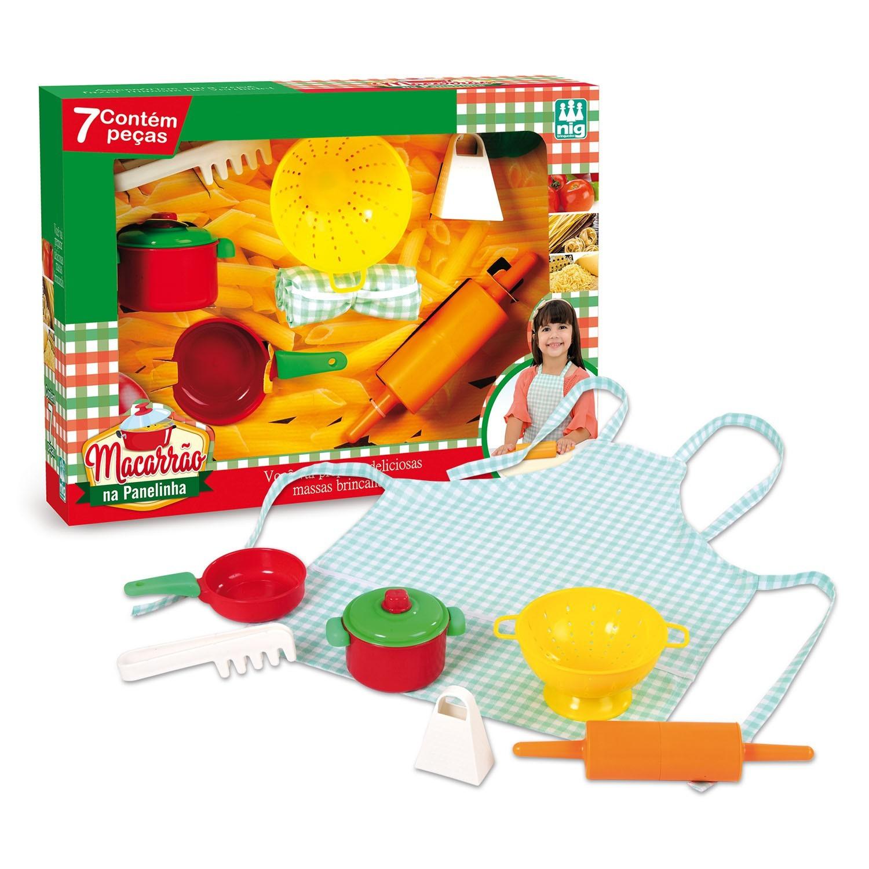 Kit Panelinhas para Brincar de Casinha Macarrão na Panelinha