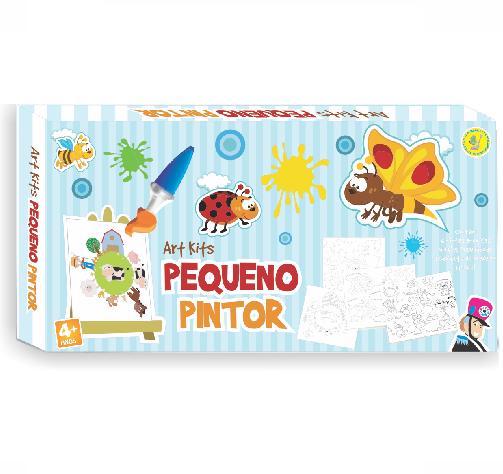 Kit para Pintura Pequeno Pintor Brinquedo de Madeira