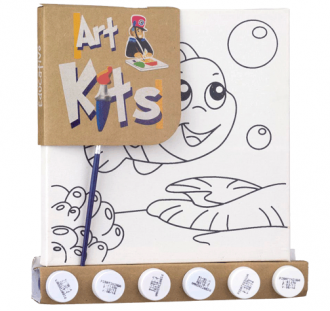Kit para Pintura Tela Desenhada Pequena Peixinho