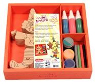 Kit Pintura Brinquedo de Madeira para Montar e Pintar Mini Artista