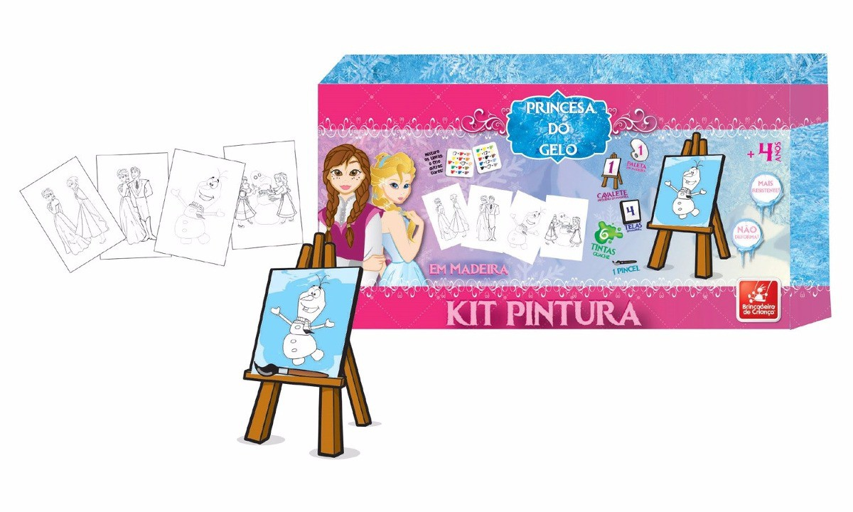 Kit Pintura Princesa do Gelo