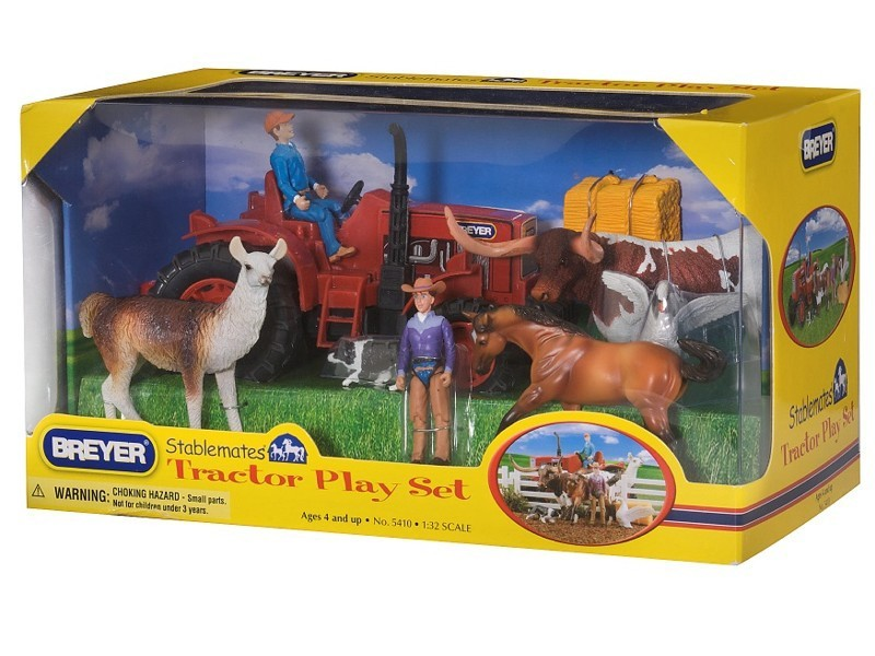Kit Stablemates Trator Play Set Breyer
